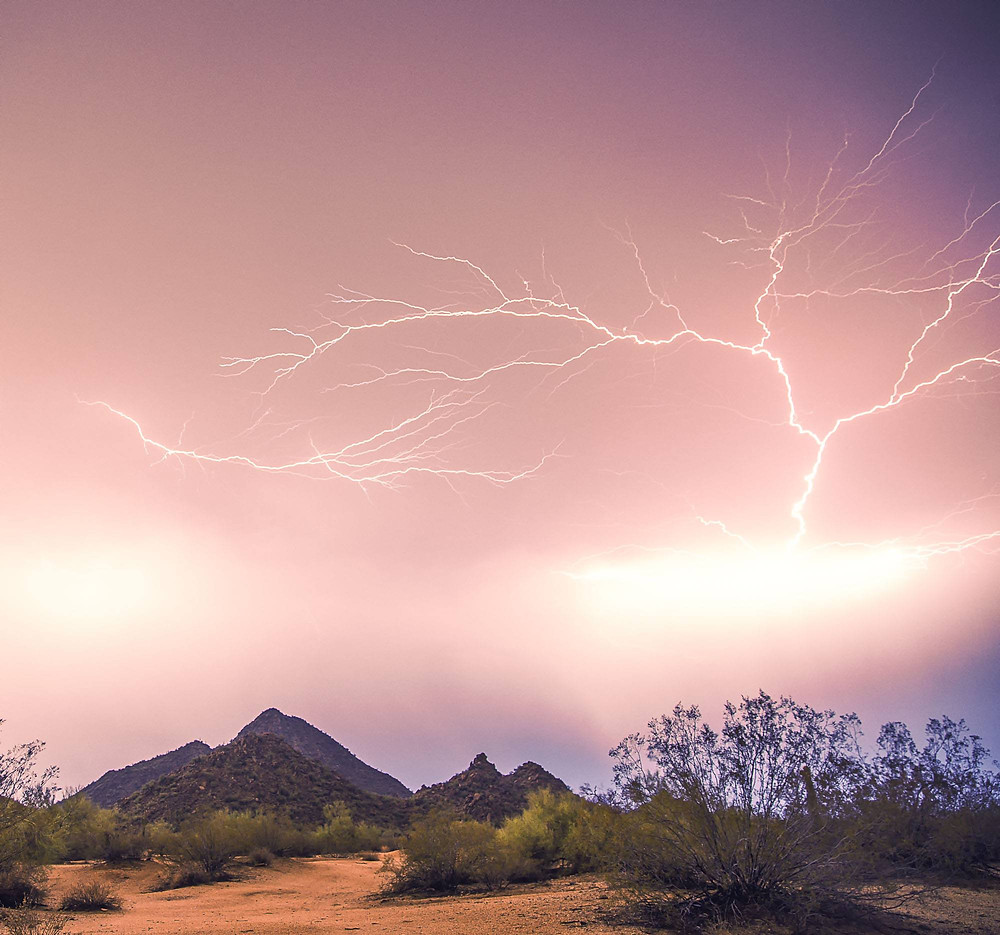 photo of lightning by Ryan Wesson in Arizona