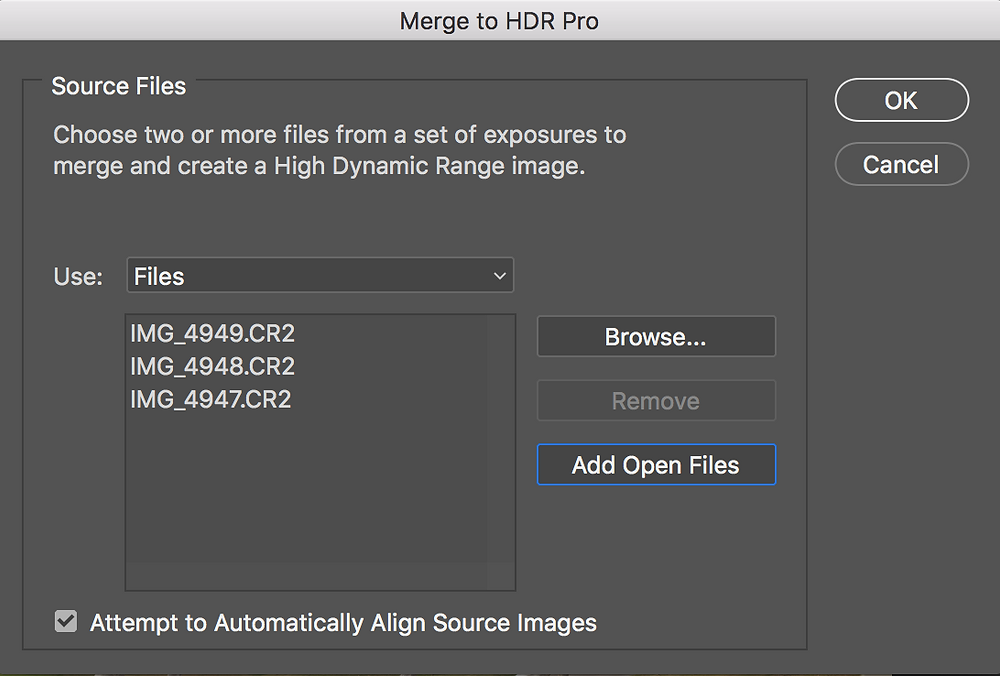 Photoshop HDR Merge How-To
