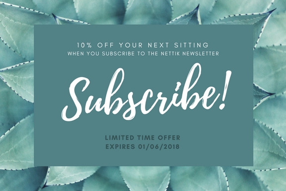 Limited Time Offer 10% Off Sitting for Subscribing to Newsletter