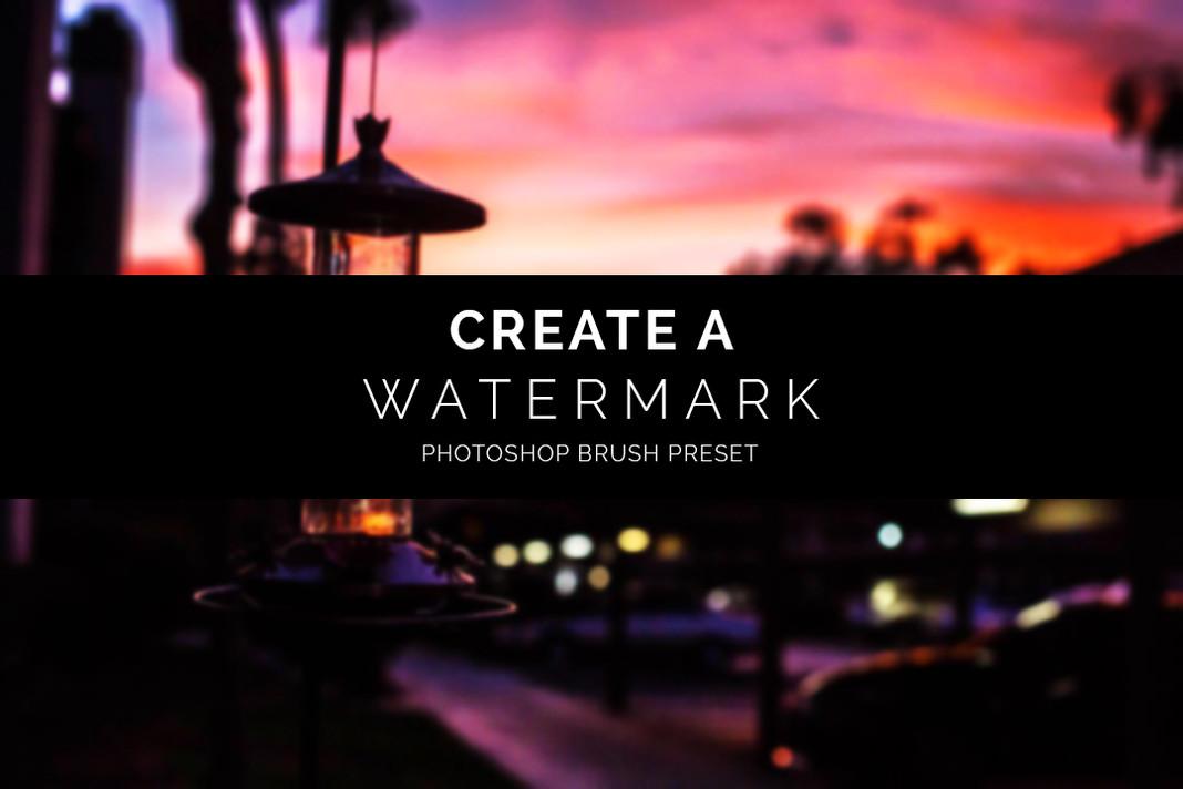 Create a Watermark Brush