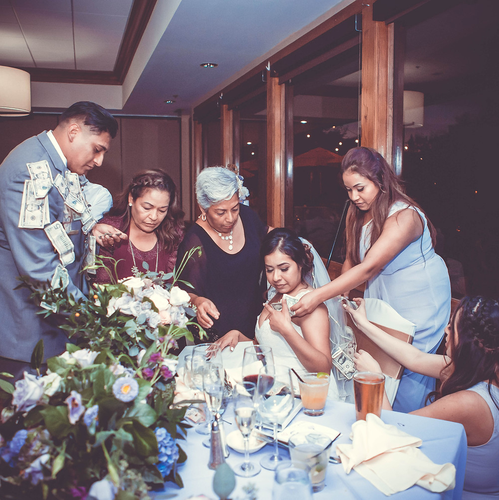 Traditional money dance, dollar dance, wedding reception
