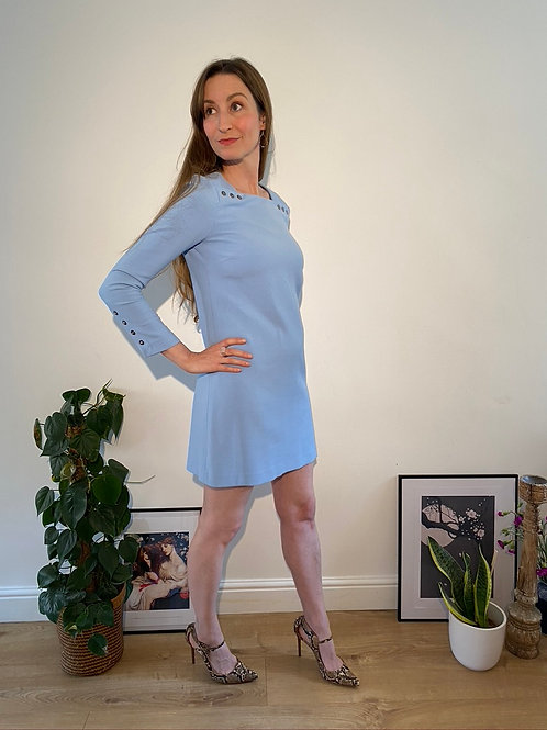 Blue 60's style dress from Zara in Size S