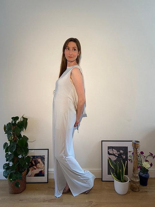 Beautiful Cowl Back Light Blue Dress