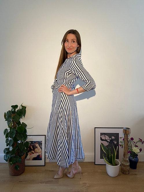 Zara Stripy Shirt Dress in Size Small