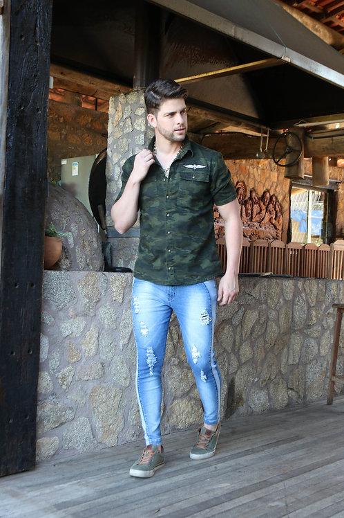 Camisa Camuflada Masculina Danger Jeans