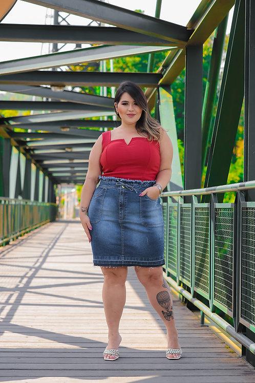 Saia Secretária Plus Size Copen Jeans