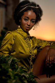 Model: Newala  Photographer: Photomojo Studio: t4studios Makeup / Hair / Styling / Concept by Alana