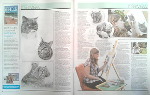 UK animal artist and pet portrait artist Frances Vincent