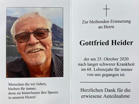 Danke Gottfried Heider - R.I.P.