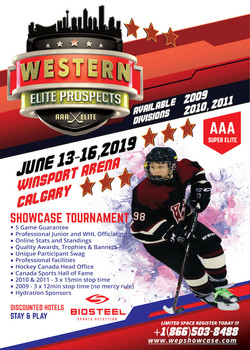 Western Elite Prospects Showcase Flyer