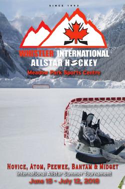 Whistler International Allstar Hockey To