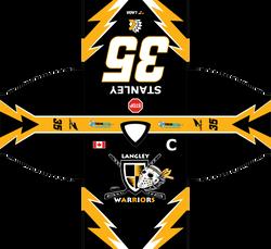 Langley Warriors Jersey Design