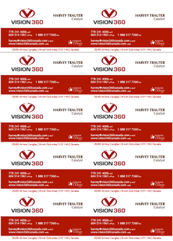 Vision 360 Business Cards Front