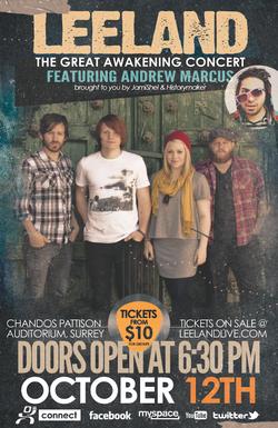 Leeland Concert Poster