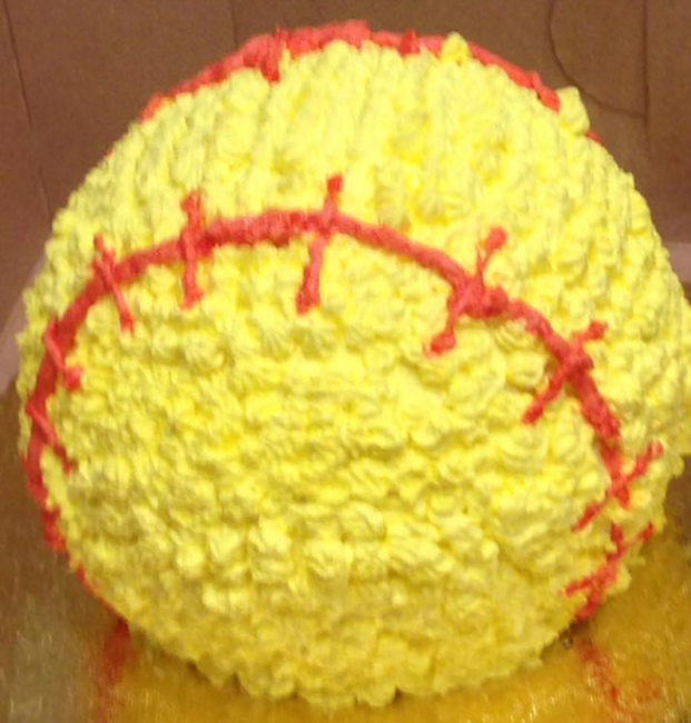 Chocolate softball cake