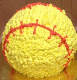 Chocolate softball cake