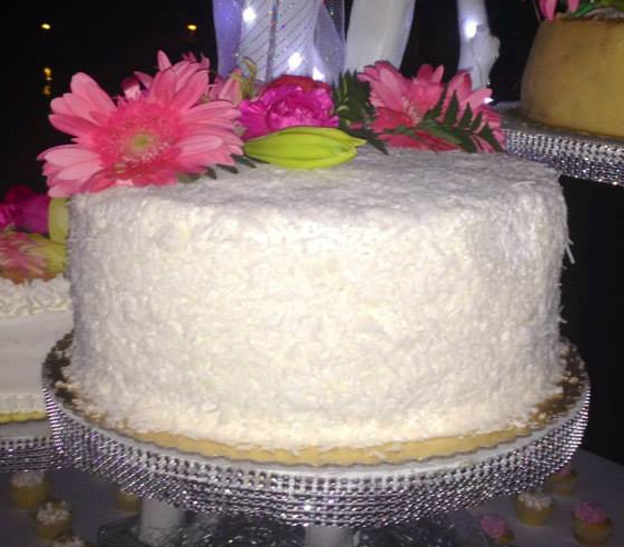 Coconut wedding cake