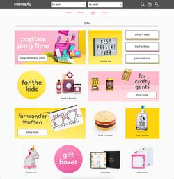 Moonpig website design