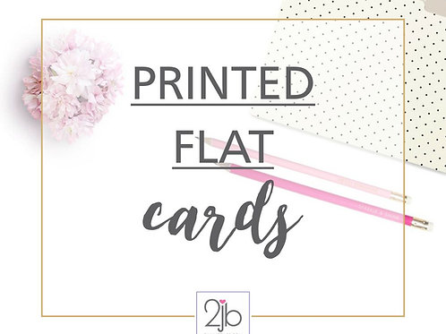 Printed 5x7 Cards