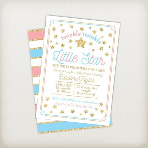 Twinkle Twinkle Little Star Gender Reveal