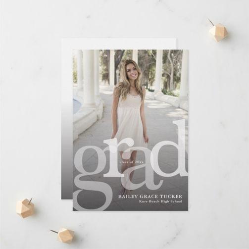 Grad Overlay Full-Photo Graduation Announcement