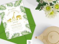 Gold and Green Safari Baby Shower