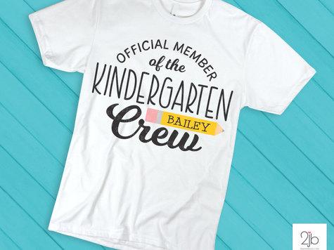 Kindergarten Crew SVG / Cut File