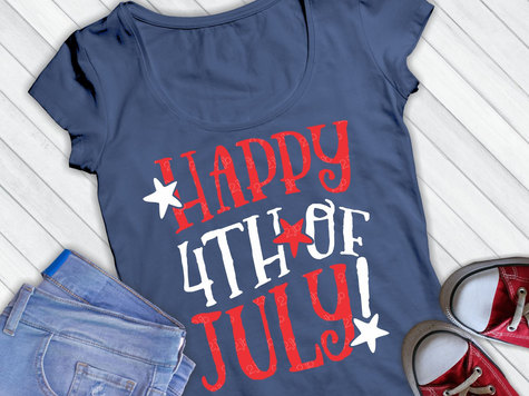 Happy 4th of July SVG / Cut File