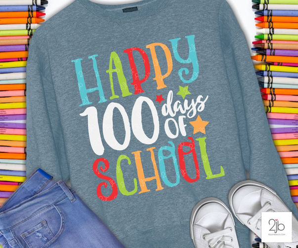 Happy 100th School Day SVG Cut File