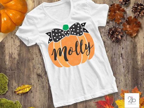 Pumpkin Bow SVG / Cut File