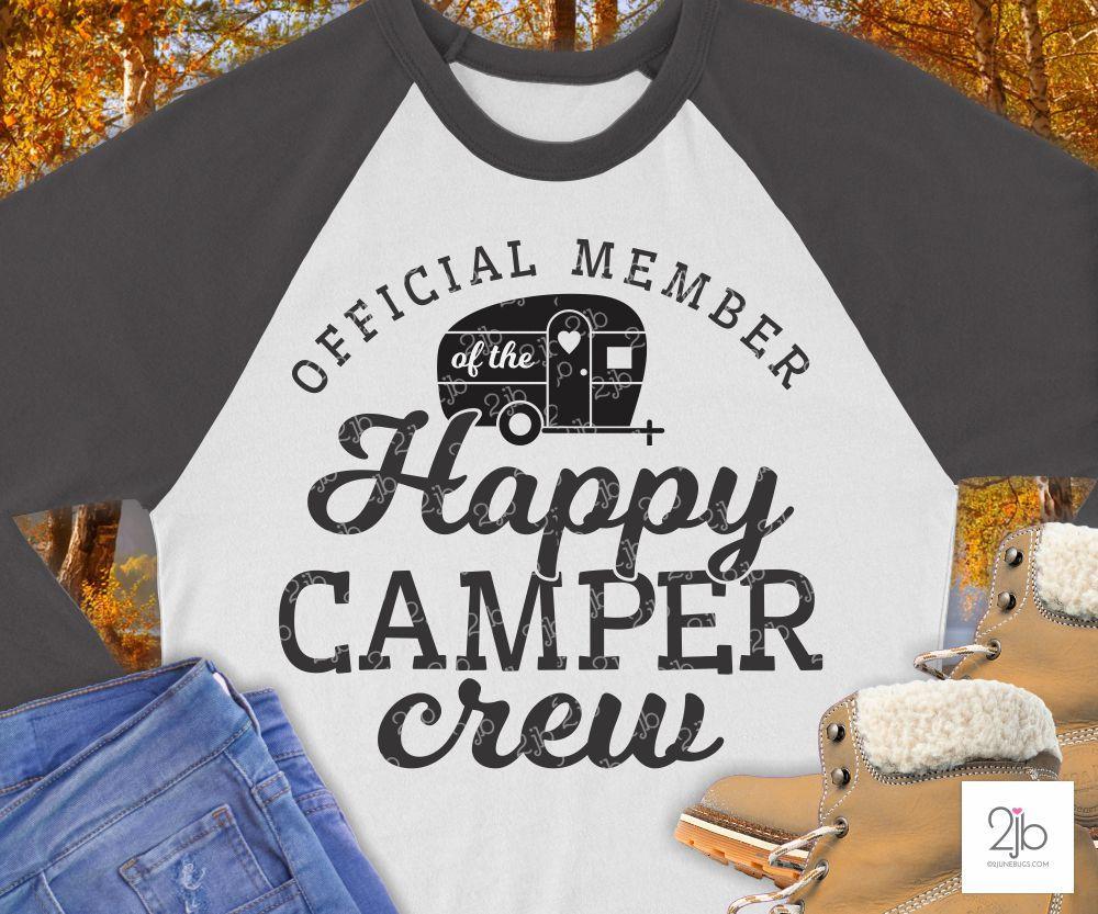 Happy Camper Crew SVG Cut File