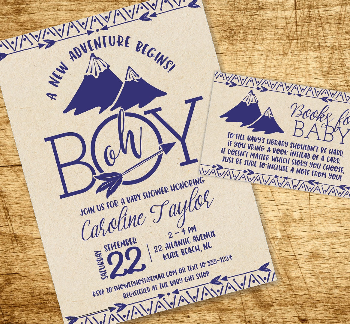 Tribal Adventure Baby Shower Collection