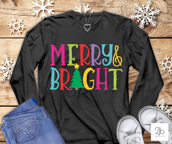 Merry & Bright SVG Cut File