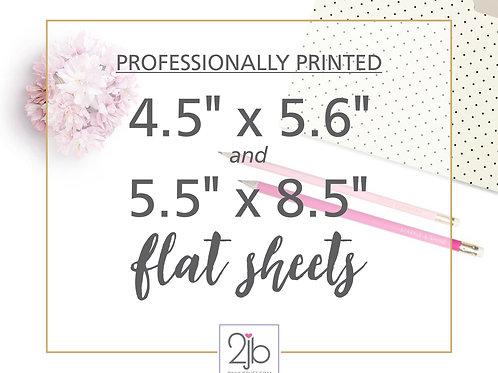 Flat Paper Sheet