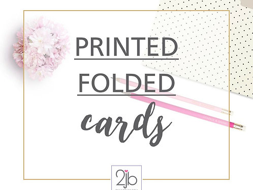 Printed Folded Cards