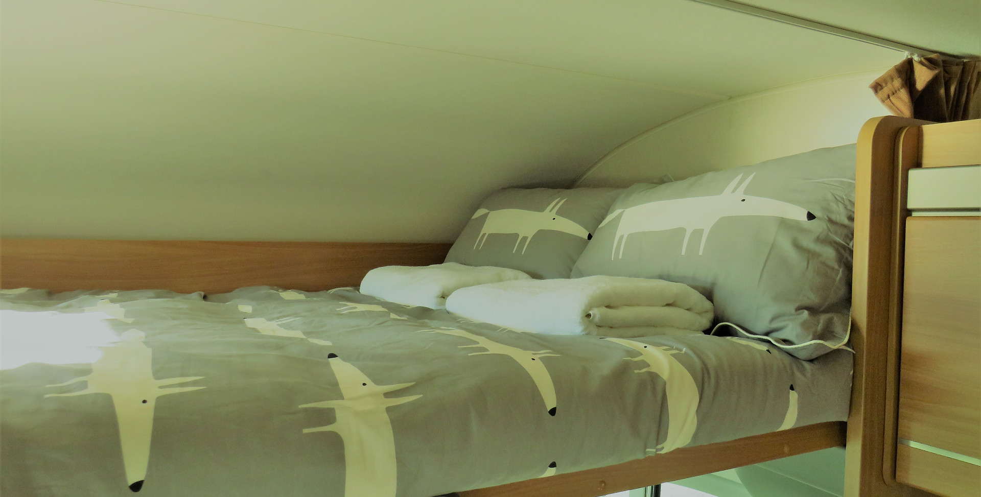 Over cab bed.