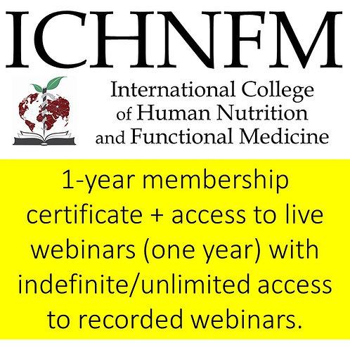 ICHNFM 1-year Membership and Webinar Access