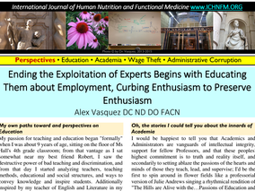 Ending the Exploitation of Experts Begins with Educating Them about Employment, Empowerment, and Opt