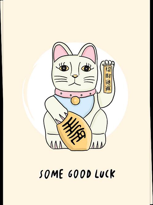 Card Lucky Cat
