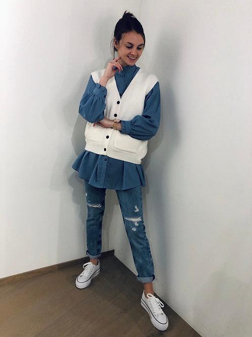 Claire blouse blauw - 71405