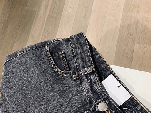 Jeans mom-fit met stuts - 68644