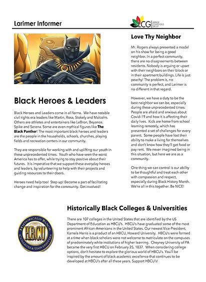 Larimer Informer Feb 2021 Black History