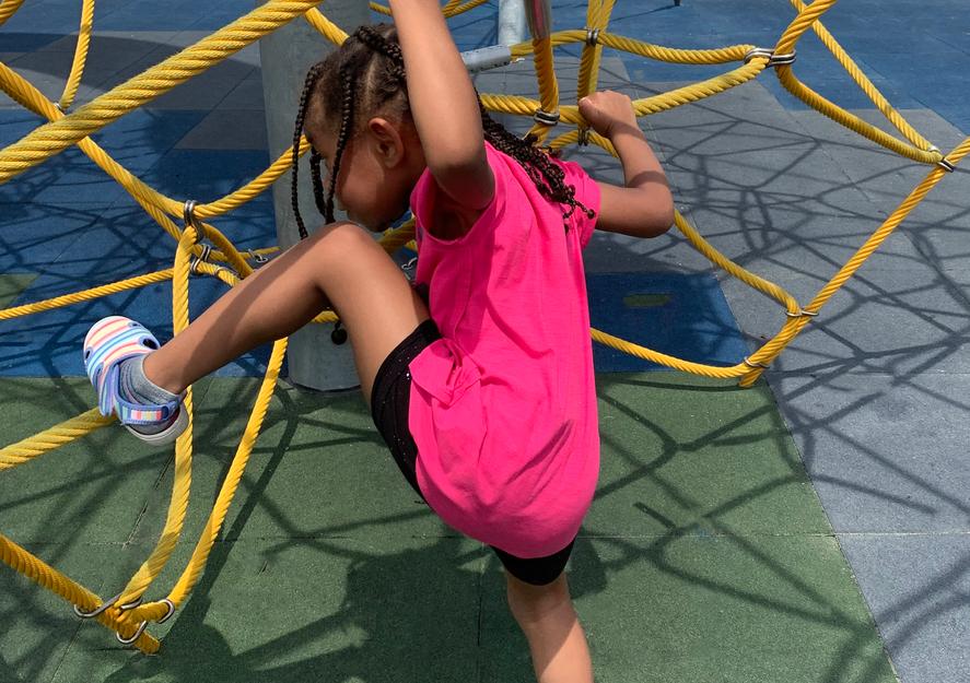 Swinging, twirling and sliding at Liberty Green Park nestled in the beautiful community of Cornerstone Village.