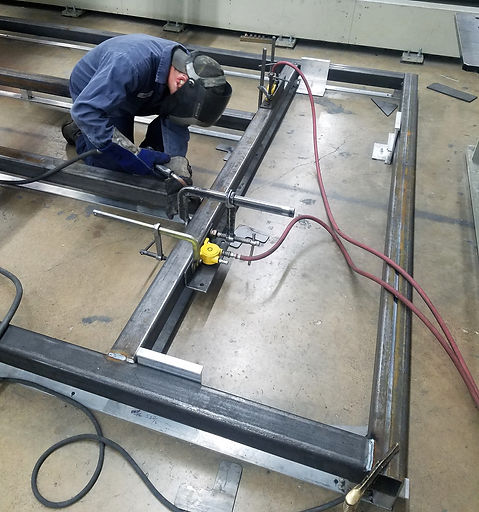 VDW System on square tubing fabrication
