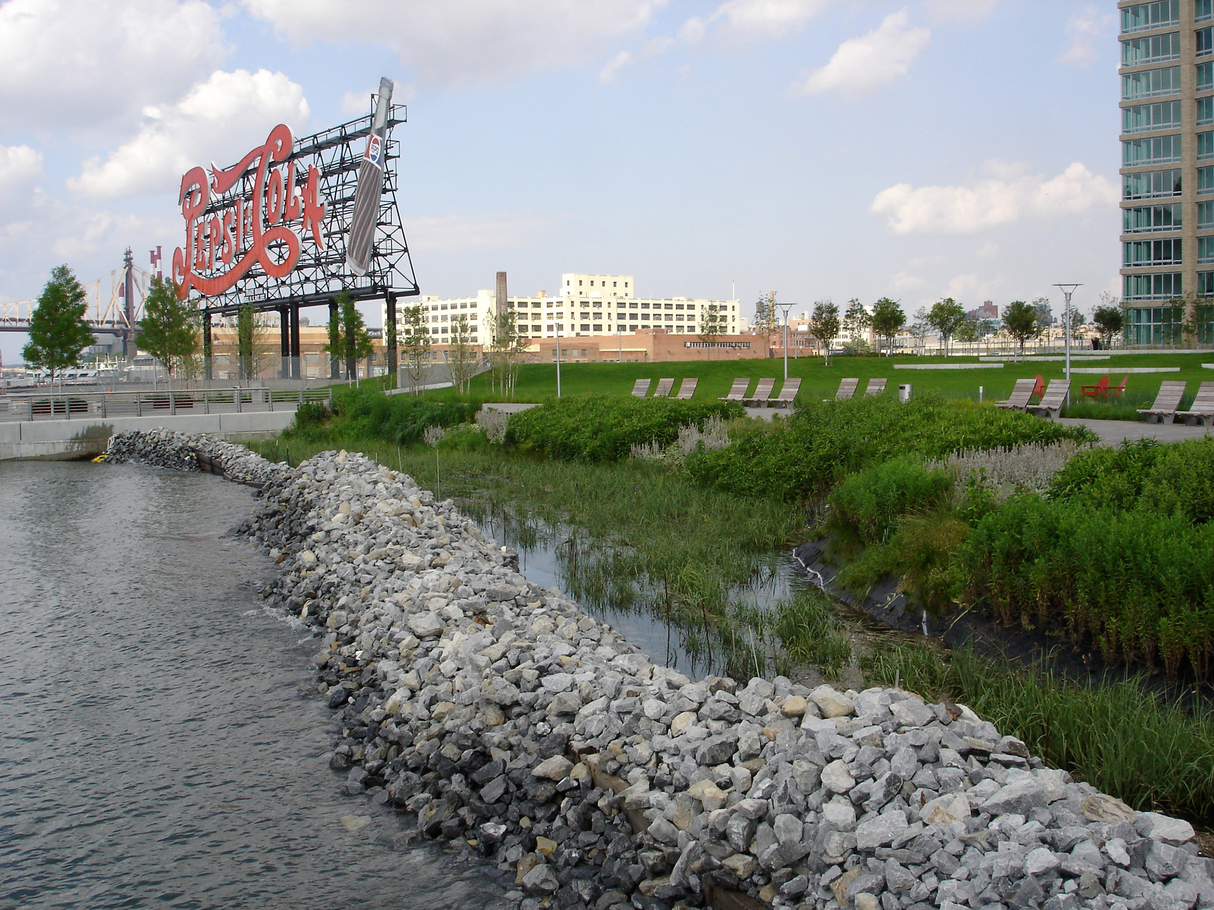 Created Wetlands at Gantry Plaza State Park