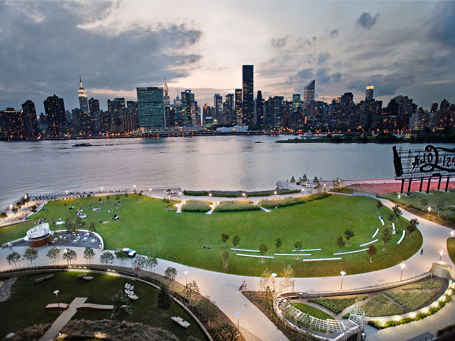 <h1>Gantry Plaza State Park Aerial View<h1>