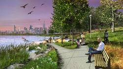 Rendered View of Bushwick Inlet Park, Motiva