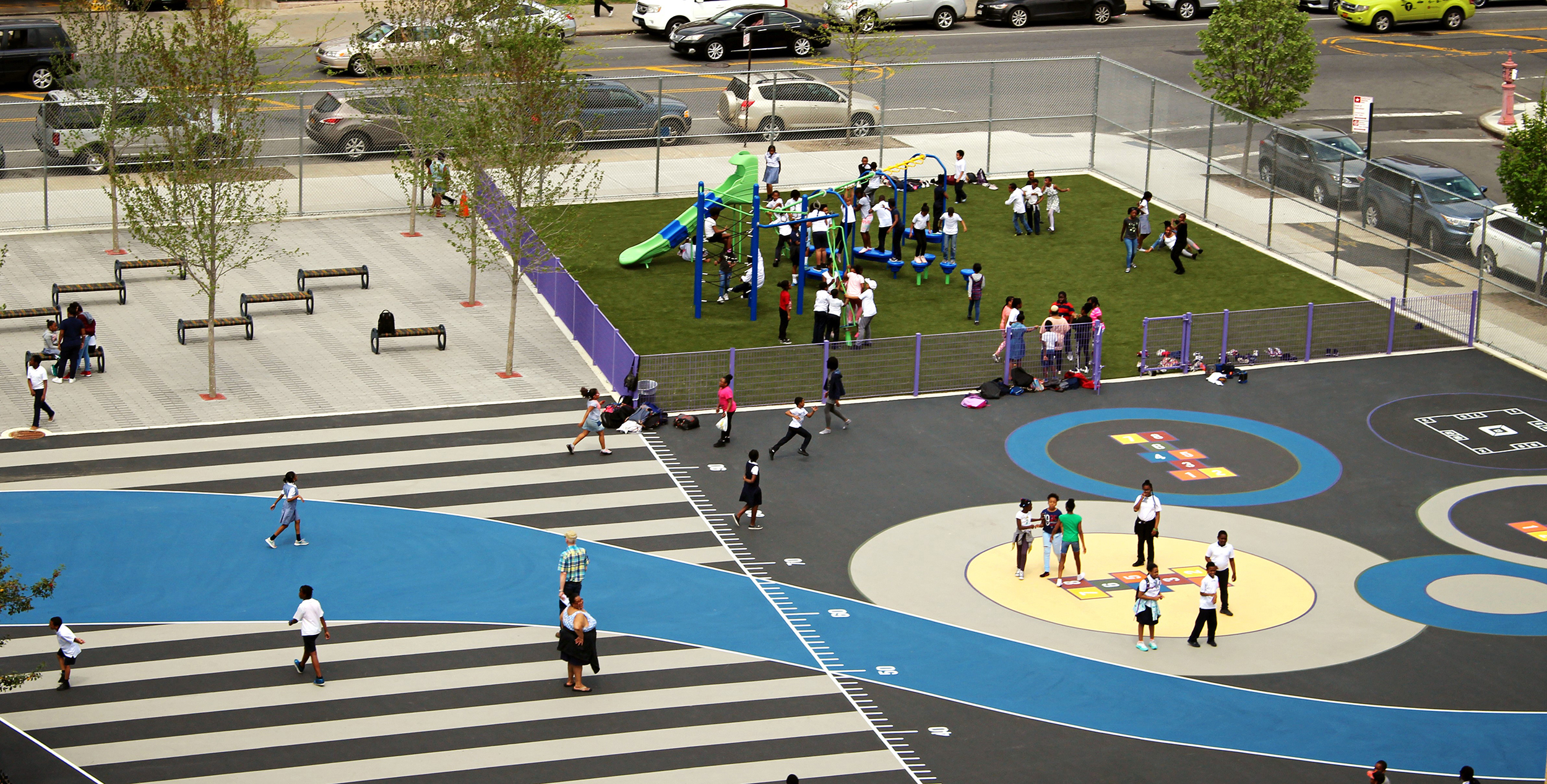 Aerial View of PS 235 K Playground