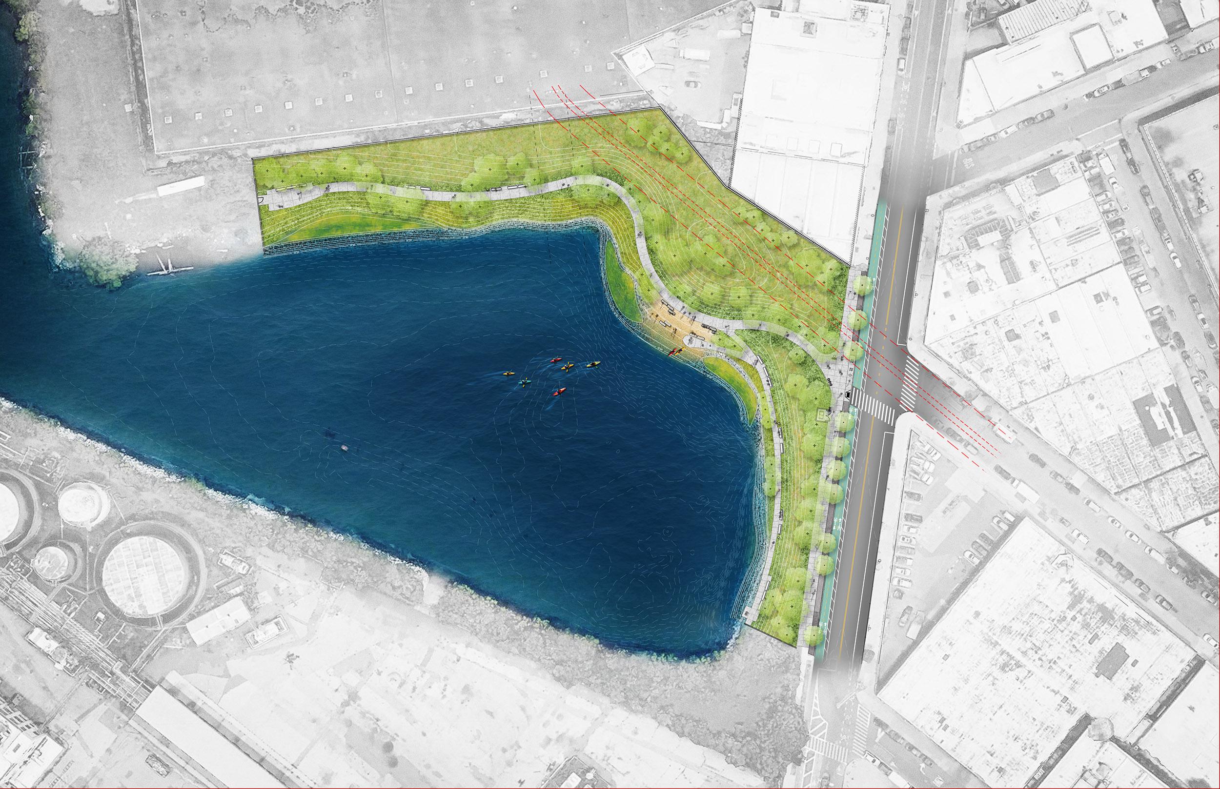 Proposed Bushwick Inlet Park Plan