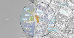 This is a contextual map of the surrounding area around Chelsea Waterside Park, showing how it becom